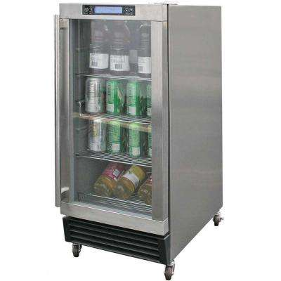 3.25 cu. ft. Built-In Outdoor Beverage Cooler in Stainless Steel