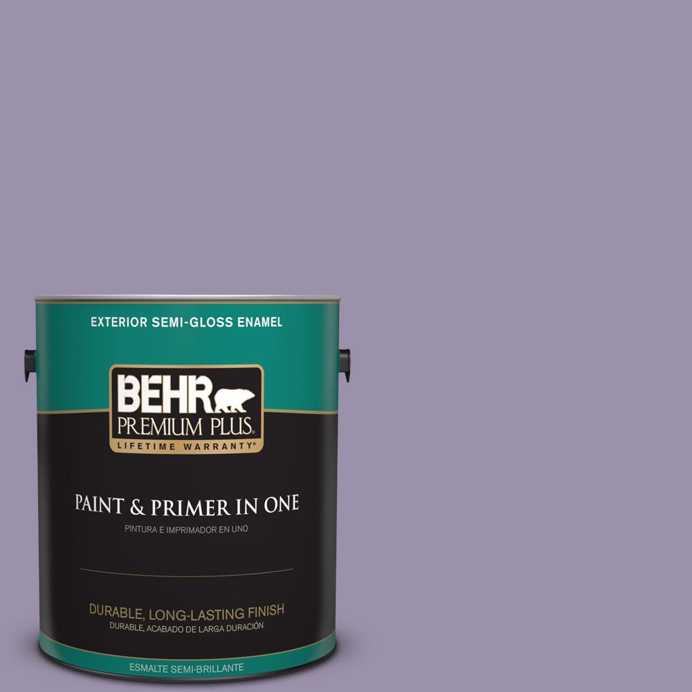 BEHR Premium Plus 1-gal. #650F-4 Delectable Semi-Gloss Enamel Exterior Paint