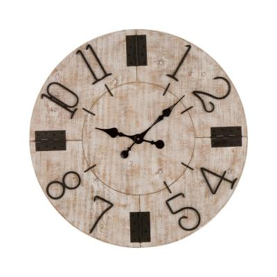 28 in. Farmhouse Wooden Wall Clock