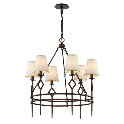 Maurice 6-Light Chandelier - Pompeii Bronze
