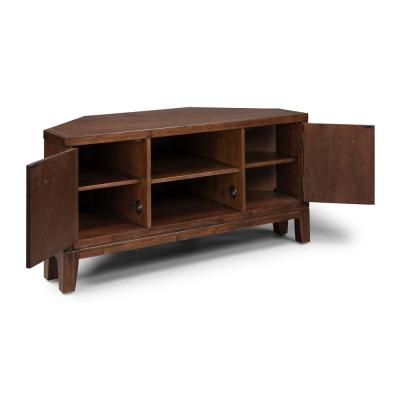Bungalow Brown Low Profile Corner TV Stand
