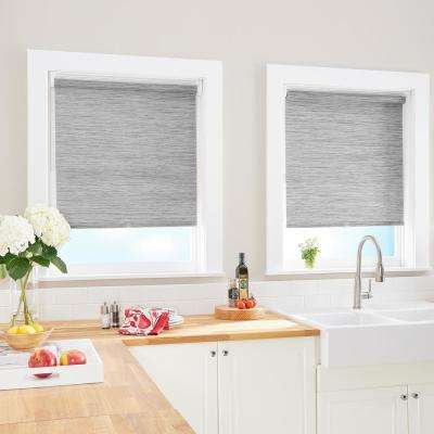 Cut-to-Width Kenza Grey Light Filtering Cordless Roller Shade - 31 in. W x 64 in. L (Actual size 31 in. W x 64 in. L)