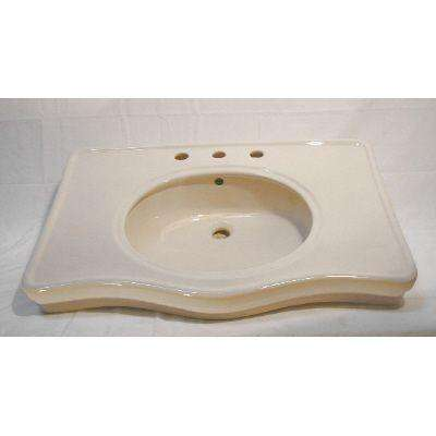 English Turn Console Vessel Sink in Bisque