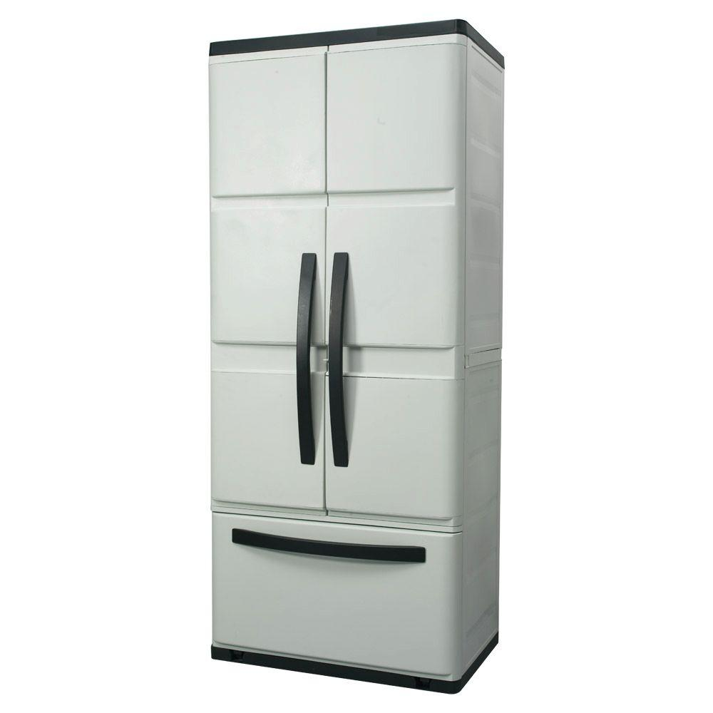 HDX 30 in. Plastic Cabinet with Drawer-DISCONTINUED