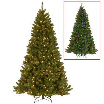 7.5 ft. North Valley Spruce Artificial Christmas Tree with Dual Color LED Lights