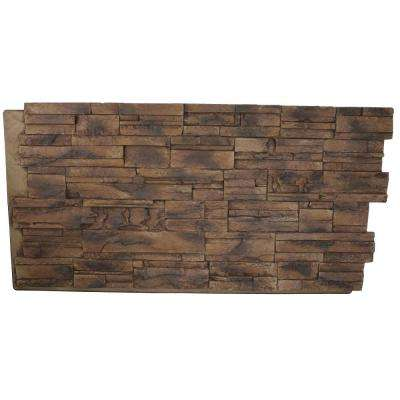 Faux Tennessee 24 in. x 48 in. x 1-1/4 in. Stack Stone Panel Adobe Brown