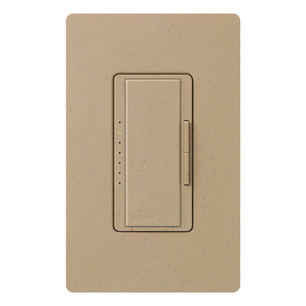 Lutron Maestro 600-Watt Multi-Location Digital Dimmer - Mocha Stone