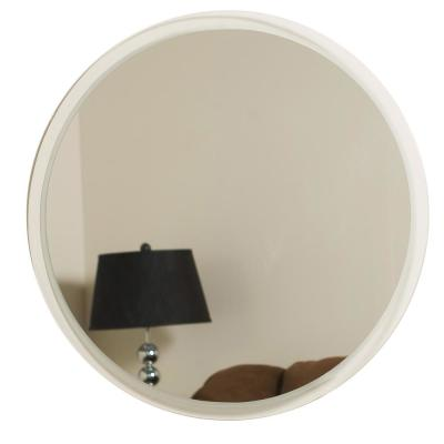 24 in. W x 24 in. H Frameless Round Bathroom Vanity Mirror in Silver