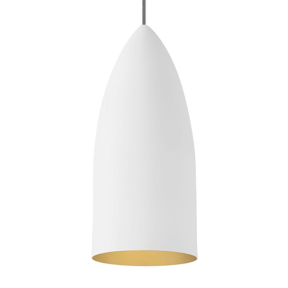 LBL Lighting Signal 1-Light White Line-Voltage Pendant LBL Lighting Signal 1-Light White Line-Voltage Pendant