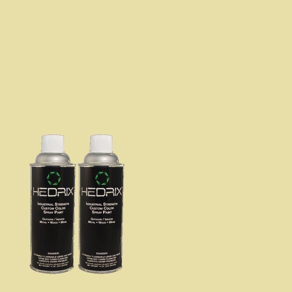 Hedrix 11 oz. Match of 400C-3 Dried Palm Gloss Custom Spray Paint (2-Pack)