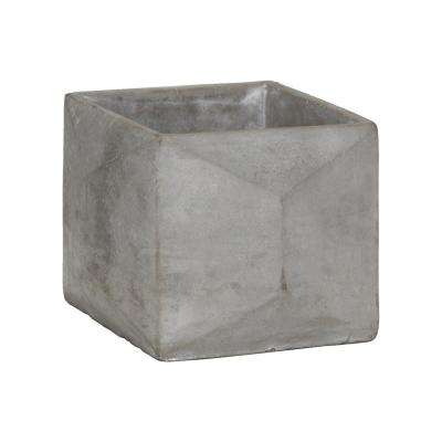 Gray Concrete Cement Decorative Vase