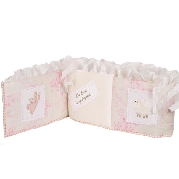 Heaven Sent Girl Cotton 4-Sectional Crib Bumper Pads