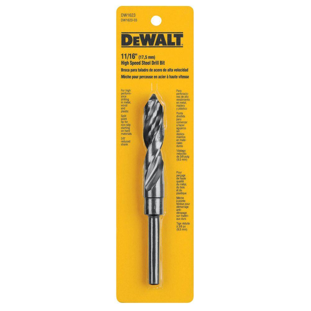 11/16 in. Black Oxide Reduced Shank Drill Bit