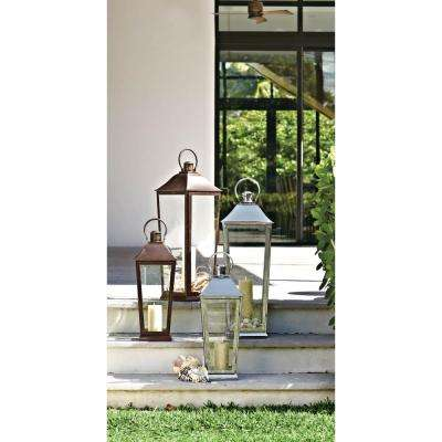 Ravello 31 in. Candle Tapered Lantern in Weathered Bronze