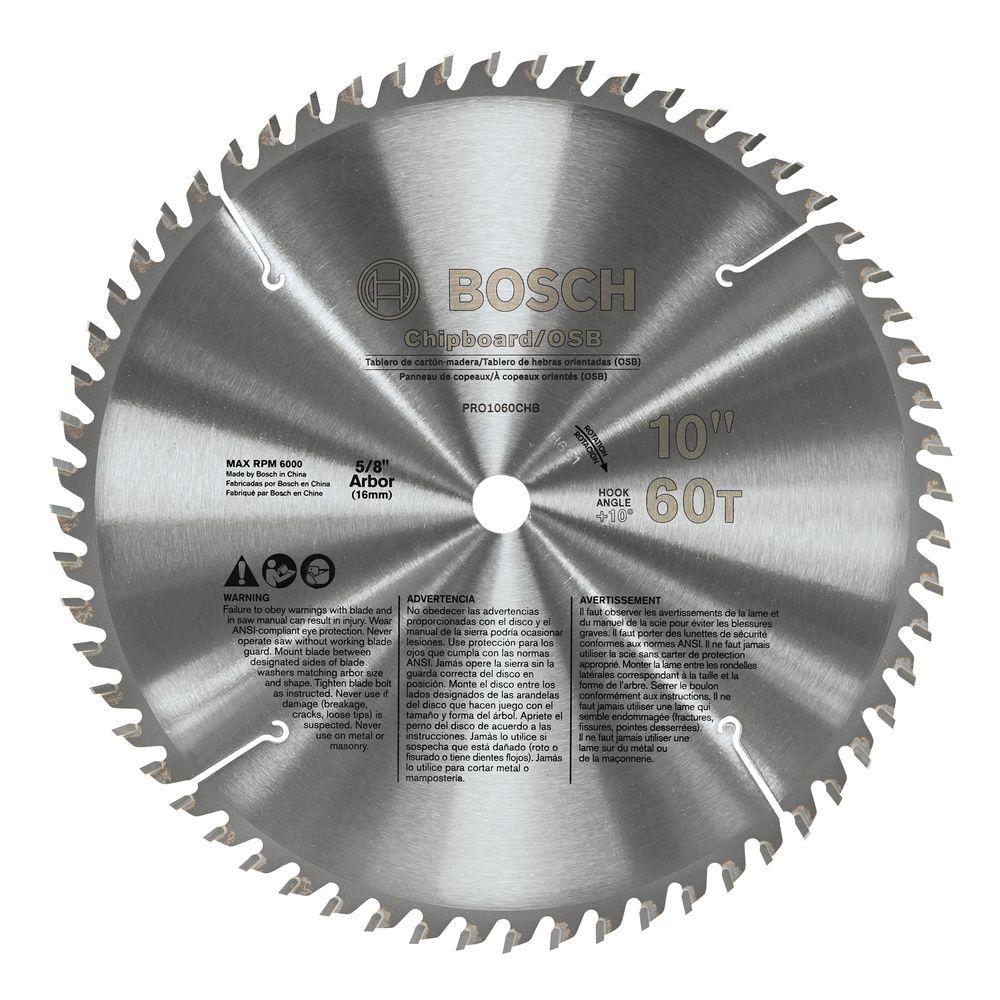 10 in. Chipboard/OSB Woodworking Blade (Box)