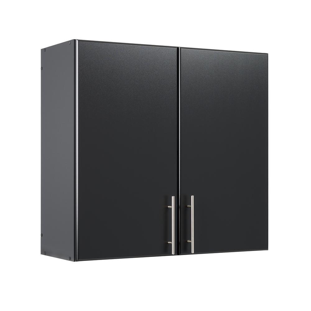 Prepac Elite Black 32 in. Wall Cabinet