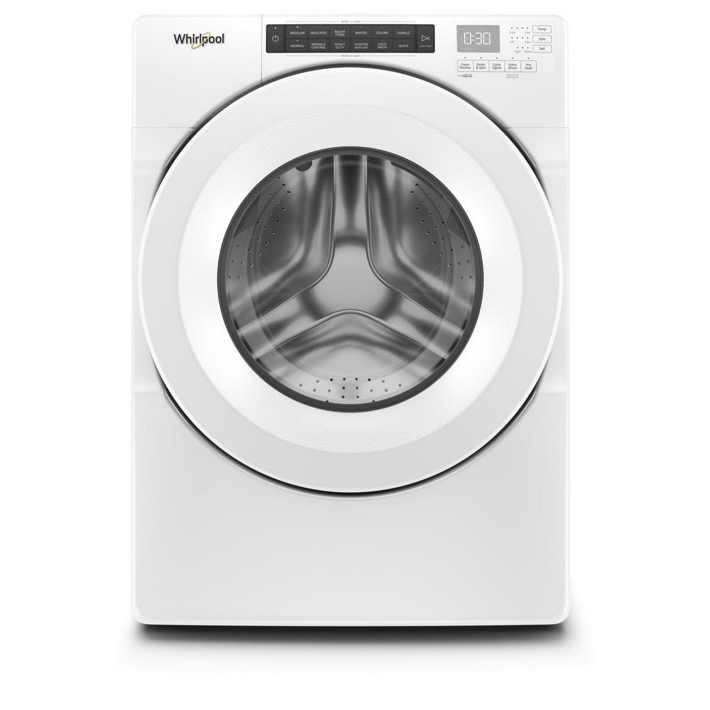 Whirlpool 4.3 cu. ft. White Stackable Front Load Washing Machine with Single Dose Dispenser, ENERGY STAR