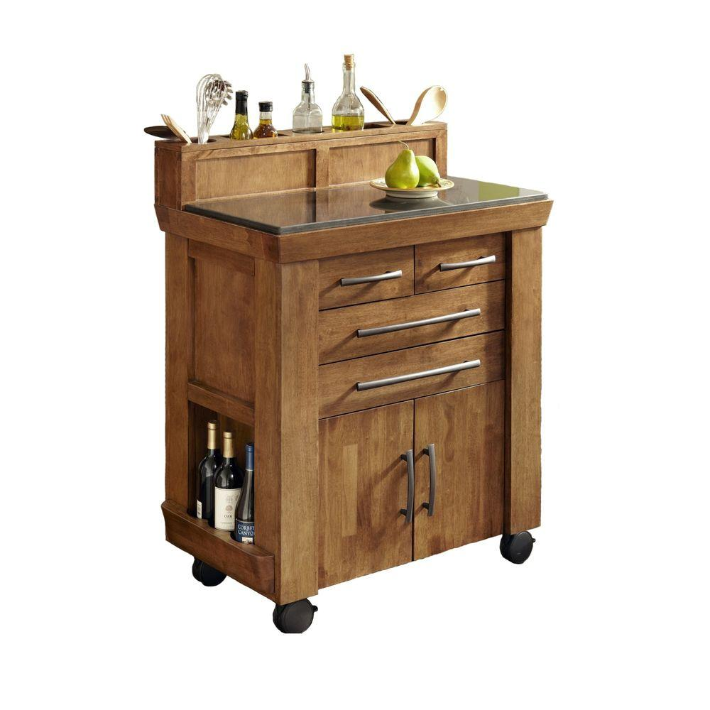 Home Styles Vintage Gourmet Kitchen Cart