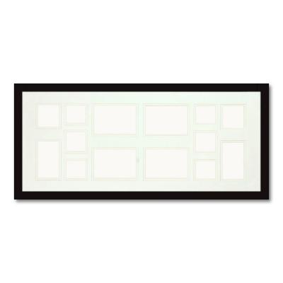 14-Opening Holds Multiple Photos Matted Black Photo Collage Frame (Set of 2)