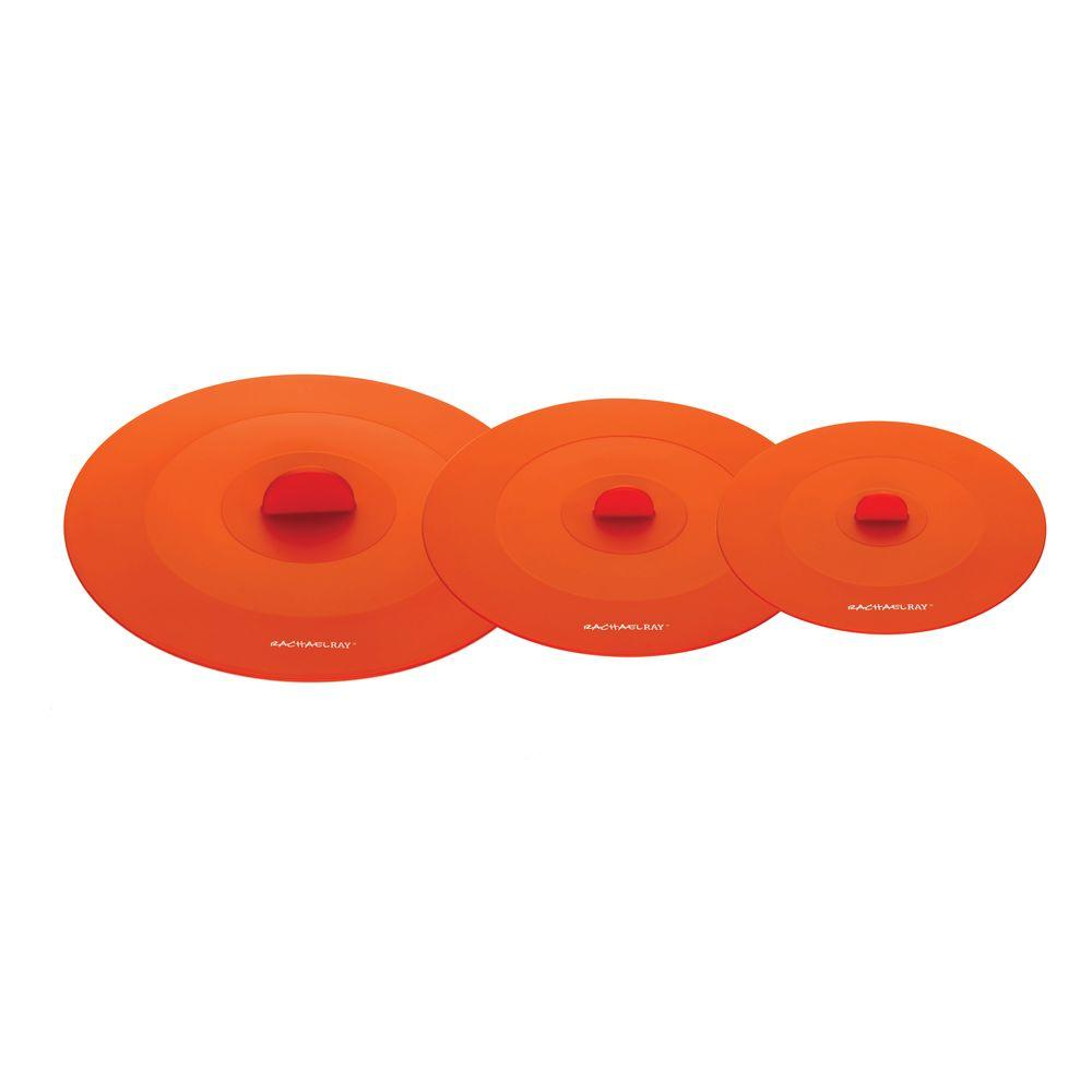 Rachael Ray Tools and Gadgets Suction Lids in Orange (Set of 3)