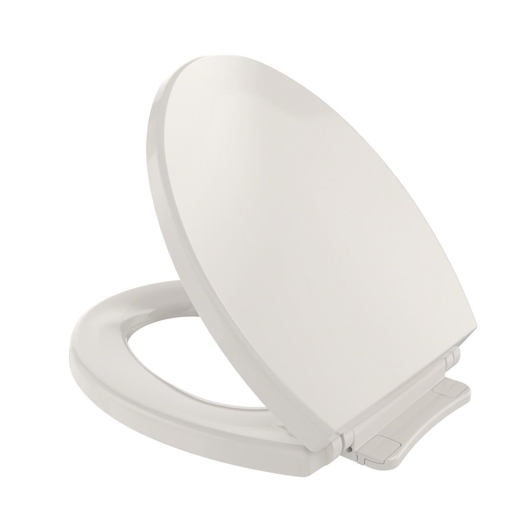 TOTO SoftClose Round Closed Front Toilet Seat in Sedona Beige-SS113 ...