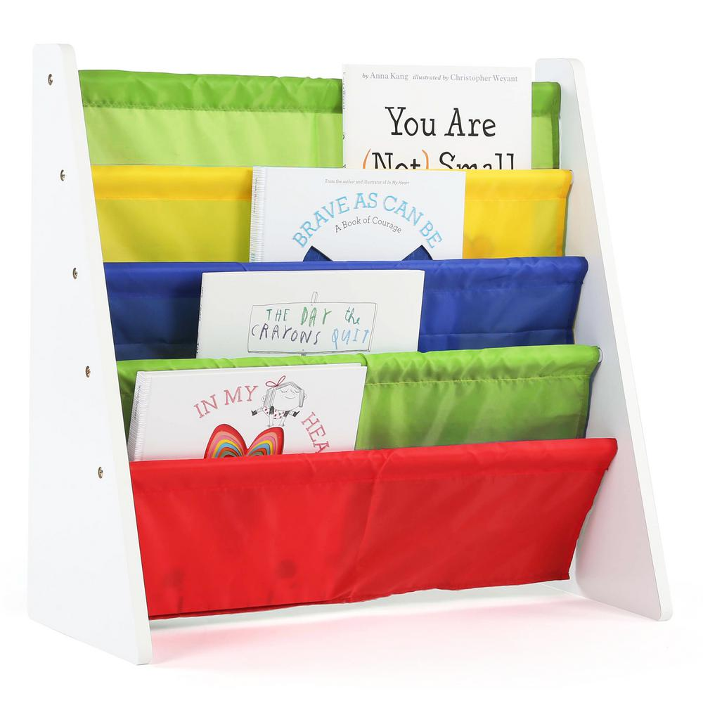 Tot Tutors Summit Collection White/Primary Kids Book Rack Storage Bookshelf
