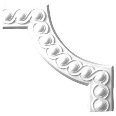1 in. x 10-1/4 in. x 10-1/4 in. x Running Bead Polyurethane Panel Moulding