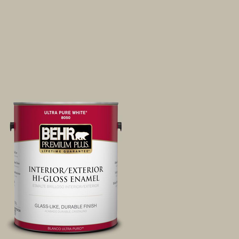 Home Decorators Collection 1-gal. #HDC-FL13-10 Wilderness Gray Hi-Gloss Enamel