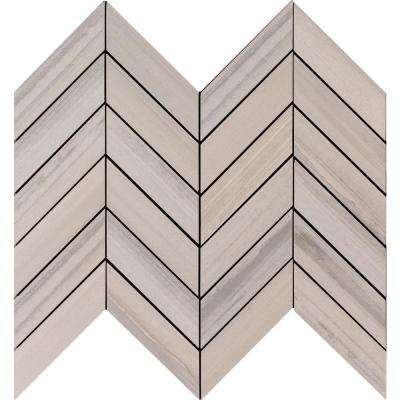 Water Color Grigio 12 in. x 15 in. x 10mm Glazed Porcelain Mesh-Mounted Mosaic Tile (5 sq. ft. / case)
