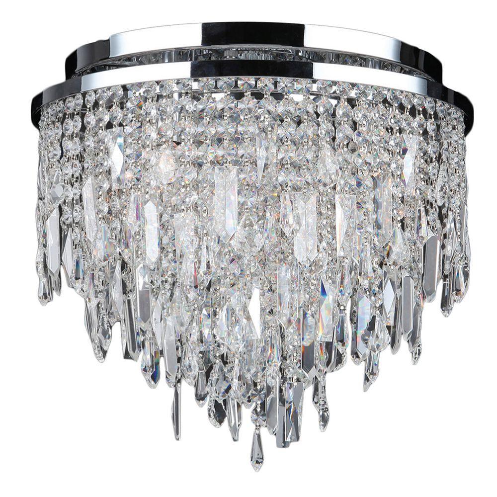 Crystal Flush Mount Lights Lighting The Home Depot