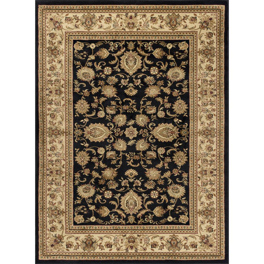 Tayse Rugs Sensation Black 9 Ft X 12 Ft Traditional Area
