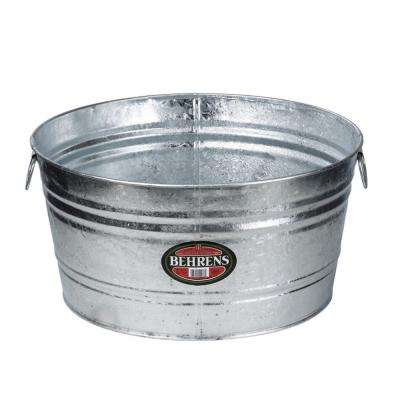9 Gal. Hot Dipped Steel Round Tub