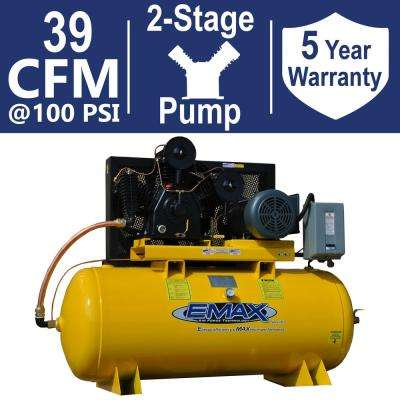 Industrial Plus Series 120 Gal. 15 HP 230-Volt 3-Phase 2 Stage Stationary Electric Air Compressor
