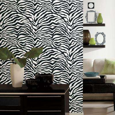 Wall In A Box Zebra uated Wallpaper