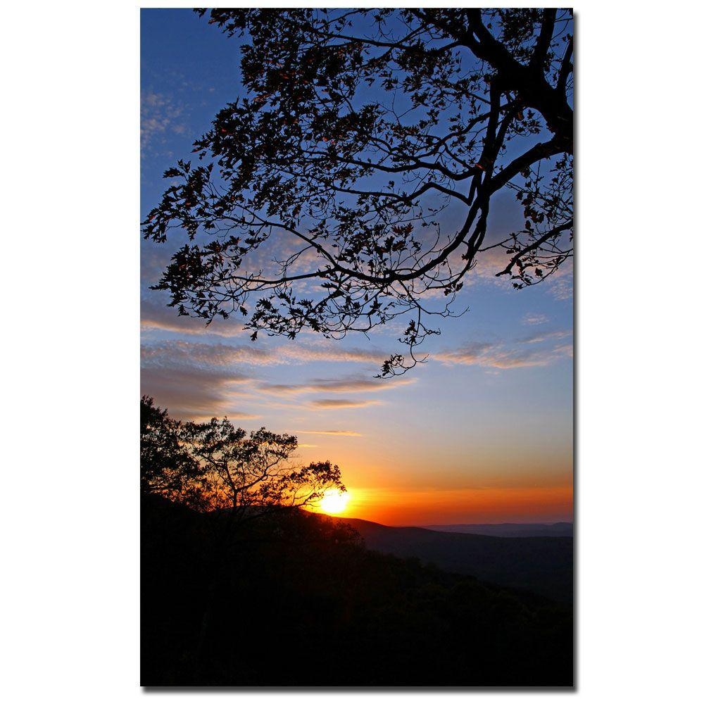 30 in. x 47 in. Drip with Sunset Canvas Art