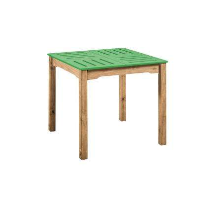 Stillwell 31.5 in. Green and Natural Wood Square Table