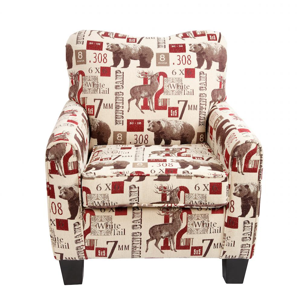 Lantern Lodge Hunting Multi-Color Cabin Club Chair