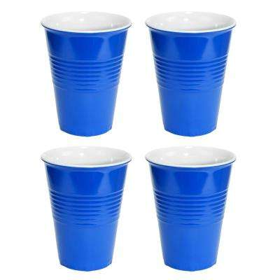 20 oz. Blue Hard Plastic Cup (4-Pack)