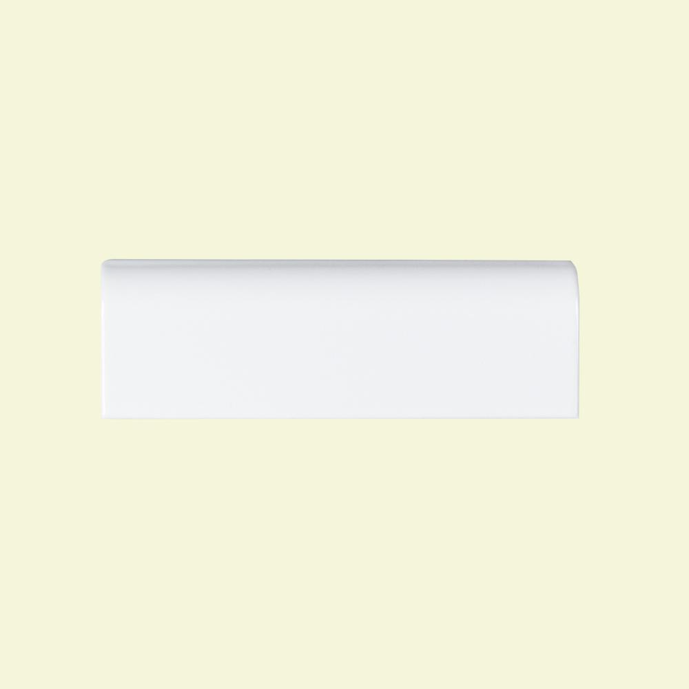 Jeffrey Court Fresh White 2 In X 6 Ceramic Single Bullnose