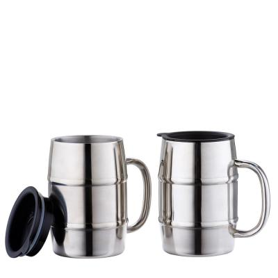 16 oz. KeepKool Stainless Steel Mugs with Lids (Set of 2)