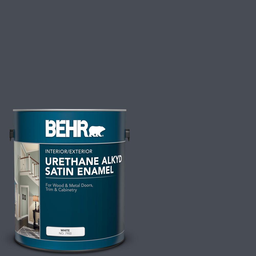 1 gal. #PPU15-20 Poppy Seed Urethane Alkyd Satin Enamel Interior/Exterior Paint