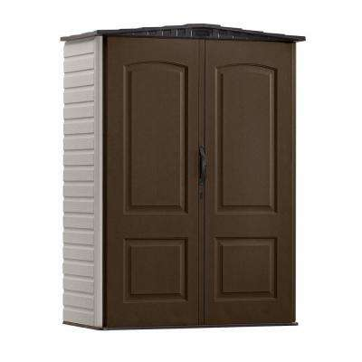 2 ft. 4 in. x 4 ft. 8 in. Small Vertical Resin Storage Shed