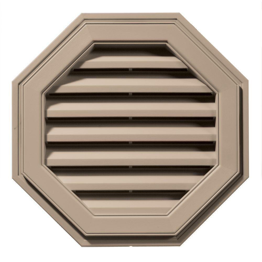 22 in. Octagon Gable Vent in Wicker