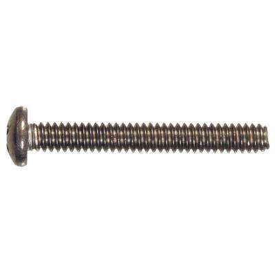 #10-32 x 1-1/2 in. Phillips Pan-Head Machine Screws (10-Pack)