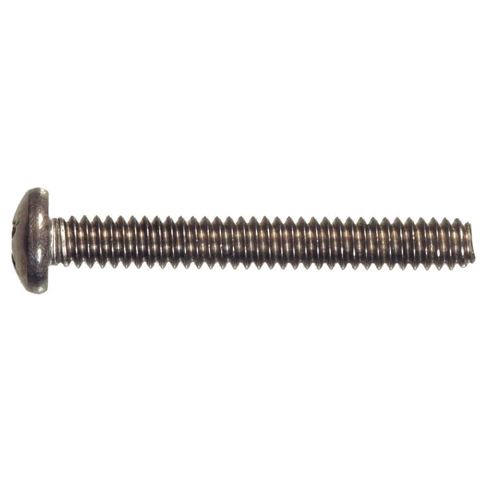 1/4 in.-20 x 2-1/2 in. Phillips Pan-Head Machine Screws (10-Pack)