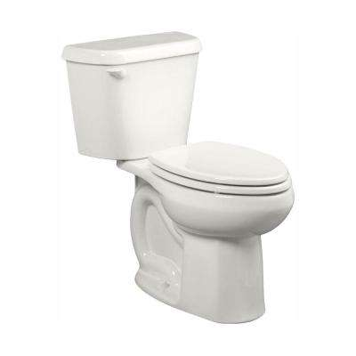 Colony 10 in. Rough-In 2-Piece 1.28 GPF Single Flush Elongated Toilet in White, Seat Not Included