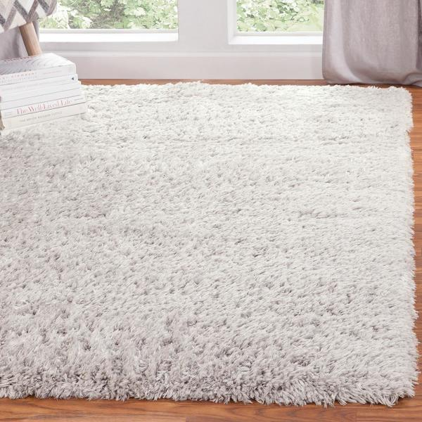 Cozy White 8 Ft X 10 Area Rug