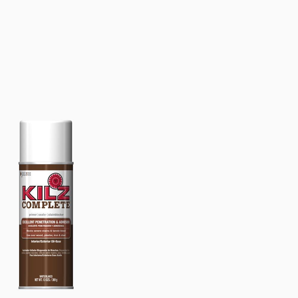 KILZ Complete 13 oz. White Oil-Based Interior/Exterior Primer Spray, Sealer, and Stain Blocker