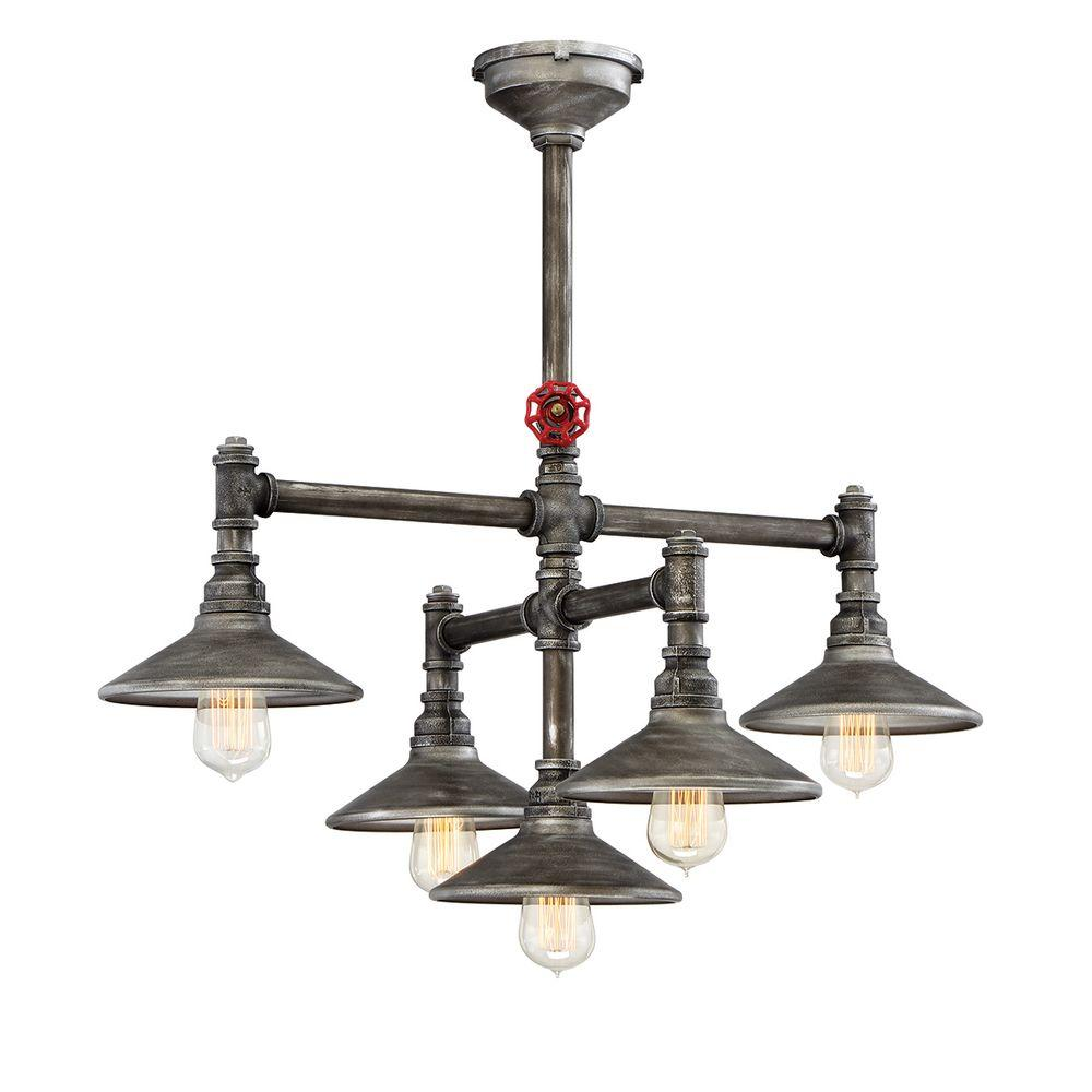 Zinco 5-Light Aged Silver Chandelier