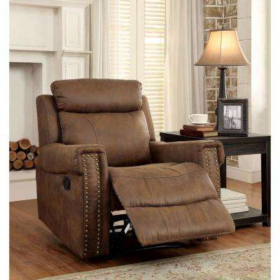 Torro Brown Soft Fabric Recliner Chair
